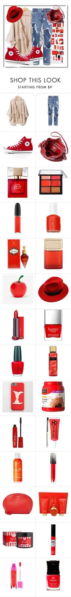 """""""Untitled #54"""" by macyofficial ❤ liked on Polyvore featuring One Teaspoon, Converse, Kate Spade, MAC Cosmetics, Essie, Cartier, Tony Moly, WithChic, Butter London and OPI"""