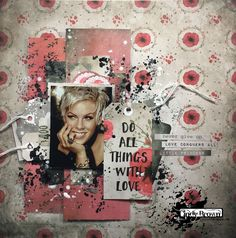 Challenge#141 - scrapki-wyzwaniowo: June 2017- See it in Pink - 1st reveal - Cindy Brown