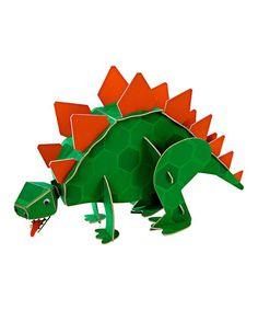This Green & Orange Roarrrr! Dinosaur Centerpiece is perfect! #zulilyfinds