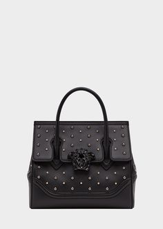 City Stud Palazzo Empire Bag from Versace Women s Collection. Medium  dual-carry style bag 93f3eda92fdc3