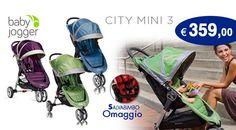Il passeggino CITY MINI 3, con tecnologia Quick-Fold, è molto leggero ed estremamente maneggevole.  http://www.lachiocciolababy.it/passeggini-3-ruote/5567-passeggino-baby-jogger-city-mini-3-2014-blue.html