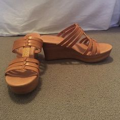 UGG sandal wedges Worn only once wedged sandals. Perfect for the beach! UGG Shoes Wedges