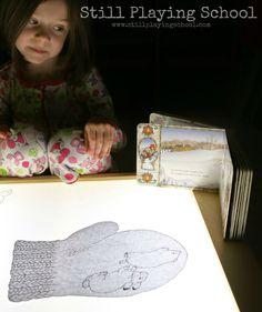 Retelling The Mitten on the Light Table | Still Playing School