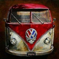 --Grateful Dead van ( h white ) Volkswagen Bus, Vw T1, Vw Camper, Campers, Grateful Dead Image, Grateful Dead Poster, Grateful Dead Wallpaper, Combi Ww, Carros Vw