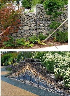 Landscaping For Your Location – How To Choose The Right Plants – Pool Landscape Ideas Gabion Fence, Gabion Wall, Beach Gardens, Outdoor Gardens, Landscape Walls, Landscape Design, Patio Design, Garden Design, Garden Balls