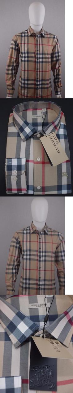 Dress Shirts 57991: Burberry Brit Camel Check Men S Casual Stretch Cotton Button Down Shirt (M,L,Xl) -> BUY IT NOW ONLY: $119.9 on eBay!