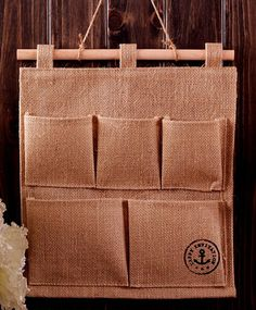 hanging fabric storage or vertical planter