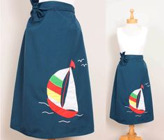 omg this is so adorable - want.  Sailboat Wrap Skirt