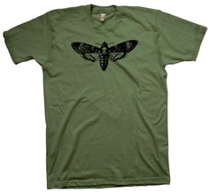 Acherontia Atropos T-Shirt, Nerd Science Geek Tee Entomology Butterfly Biology - T-Shirts March For Science, Science Geek, Cotton Tee, Nerd, Geek Stuff, Mens Tops, T Shirt, Dinosaurs, Biology