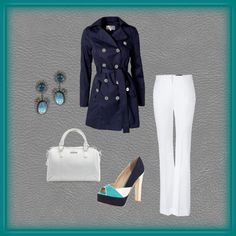 Casual Work, created by #knwdesigns on #polyvore.    Love this...would even try the shoes...