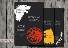 Game of Thrones Save the Date - Printable Wedding Announcement - Darryl decided a Game of Thrones theme instead of Starcraft