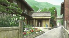 Letter to Momo anime scenery, house
