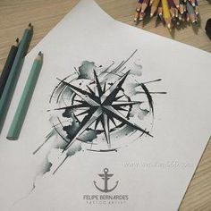 Black and White Compass Tattoo Manuscript - Black and White Compass Tattoo . - Black and White Compass Tattoo Manuscript – Black and White Compass Tattoo Manuscript – - Compass Tattoos Arm, Anchor Compass Tattoo, Compass Art, Compass Tattoo Design, Diy Tattoo, Tattoo Blog, Tatoo Bird, Bluebird Tattoo, Tattoo Sketches