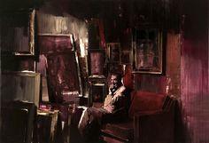 Adrian Ghenie : The Collector, 2008, oil on canvas, 200 x 290 cm