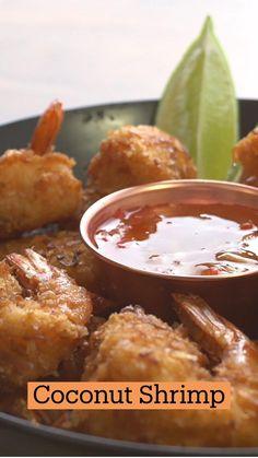 Shrimp Recipes, Fish Recipes, Appetizer Recipes, Appetizers, Tastemade Recipes, Coconut Recipes, Seafood Dishes, Fodmap, Diy Food