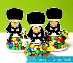 Super Hero Boy Inspired Candy Favor Containers on Etsy, $17.50