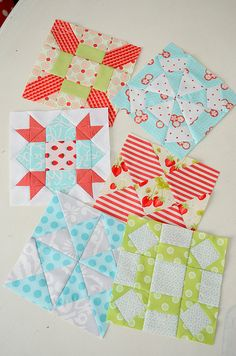 Farmer's Wife Quilt Challenge Blocks - love the colours - hope my book arrives soon Amazon!