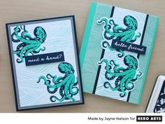 Color Layering Octopus is a Hero Arts collection of Clear Design Stamps. Layer colors to create beautiful sealife images for stamped…