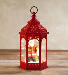 Holiday Lantern with Christmas Scene | Candles and Lanterns