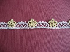 Vintage Trim Yellow and White Flowers 1 by LaurasVintageGarden, $1.25