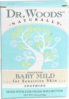 Dr. Woods Naturally Bar Soap Baby Mild Unscented -- 5.25 oz - Vitacost - Grimmer's favorite, good lather, no irritation