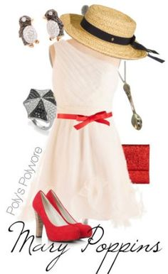 Mary Poppins on Polyvore. Love the penguin earrings. :)