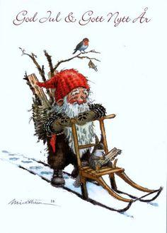 <Bilde 306 001> Denne kjente nissen preger kalenderforsiden på årets Midthun-kalender fra Aune forlag