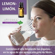 Limpia tu organismo de manera #natural con #doTERRA #Aceite #Esencial de #Limón