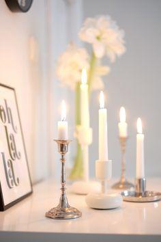Silver candleholder | Kauniit neliöt