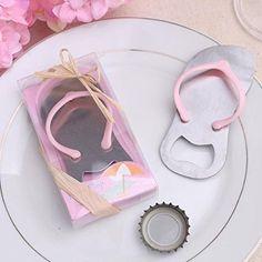 52915e9ffb8f8 Meiysh 24 pcs Wedding Favors Gift Pop the Top Flipflop Bottle Opener Wine  Openers 24 pink