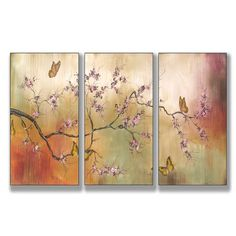 Found it at Wayfair - Home Décor Pink Blossoms and Butterflies 3 Piece Canvas Art Set http://www.wayfair.com/daily-sales/p/Meet-Your-Match%3A-Multi-Panel-Wall-Art-Home-D%C3%A9cor-Pink-Blossoms-and-Butterflies-3-Piece-Canvas-Art-Set~VYH1118~E15584.html?refid=SBP.rBAZEVSOLDyvunP2h6yTAkx2sq7GtkaZgG9EQZobXJQ