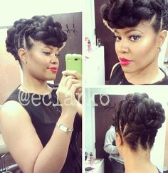 Marley Flat Twists into a Updo.  #blacksummerhair #coiltherapy
