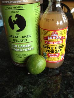 Morning repair 1T collagen hydrolysate (Great Lakes) 1T apple cider vinegar (Braggs) Juice of 1 lime or lemon 8 oz water