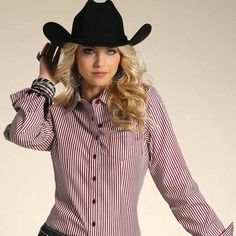 54f208cdb9a Cruel Girls line of western shirts for women now includes this Red and  White Striped Western Shirt.