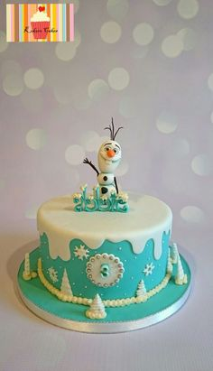 Frozen themed single tier cake - Cake by Kyoko - CakesDecor