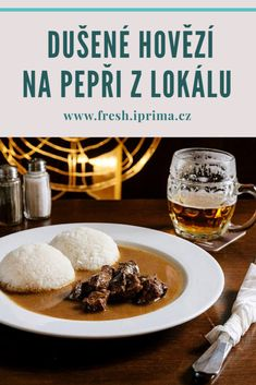 #hovezi #maso #omacka #recept #ceskakuchyne #primafresh Menu, Food, Menu Board Design, Meal, Essen, Hoods, Meals, Eten