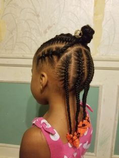 Half braid up rubber bands and braids