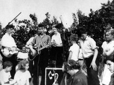 Beatles-While setting up their equipment to play, the Quarrymen's sometime tea-chest bass player, Ivan Vaughan, introduced the band to one of his classmates from Liverpool Institute, the 15-year-old Paul McCartney.