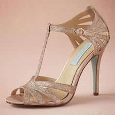 Champagne Glittery Wedding Shoe Custom Made T Strap Leather Sole Comfortable Pumps Toe 4 Leather Wrapped Heels Women Sandals Dance Shoes Light Gold Wedding Shoes Light Pink Bridal Shoes From Graceful_ladies, $73.52  Dhgate.Com