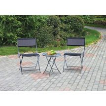 Walmart: Mainstays Grab and Go 3-Piece Outdoor Bistro Set, River Rock and Black, Seats 2 $68