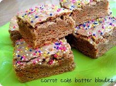 Carrot Cake Batter Blondies | What a fun twist on a carrot cake recipe!
