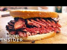 Katz's Delicatessen has been a New York institution since Producer Spencer Alben visits to taste the legendary pastrami on rye and sits down with Jake . Best Fish And Chips, New York Pizza, Ny Restaurants, Food N, Menu Restaurant, No Cook Meals, Deli, Dinner Recipes, Cooking
