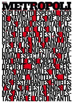 Cover of Metropoli (El Mundo) magazine , Dec.2008.
