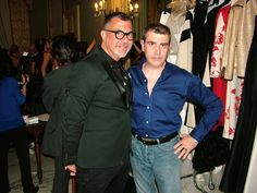 Michele Miglionico e make up artist Pablo Gil Cagnè