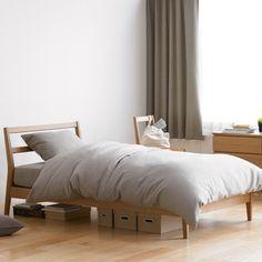 Muji Bentwood Ash bed (queen)