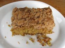 Piece of Sourdough Struesel Coffee Cake