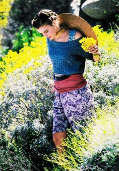 """June 1988.  Seventeen magazine. """"Adorn yourself with the colors of the earth…"""""""