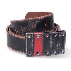 Foster Weld Grill Buckle & Belt - Black & Red