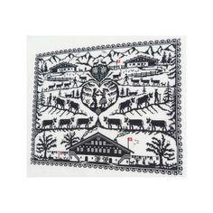 CollecXion du Chalet, kit Grande Poya (H174) - Au Point-Compté - Boutique d'articles à broder au point de croix