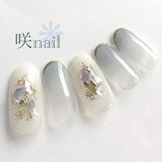 Manicure And Pedicure, Gel Nails, Pedicures, Japan Nail Art, Minimalist Nails, Simple Nails, Hair And Nails, Nail Art Designs, Pearl Earrings